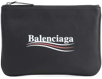 Balenciaga Everyday leather pouch