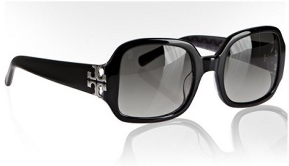 Tory Burch black plastic squared sunglasses