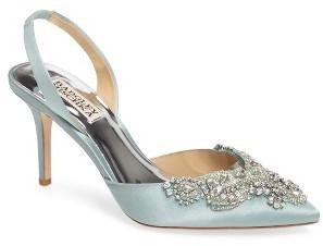 Women's Badgley Mischka Barnes Crystal Embellished Slingback Pump $225 thestylecure.com