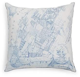 Arabella Rani Cartographic Cotton Pillow