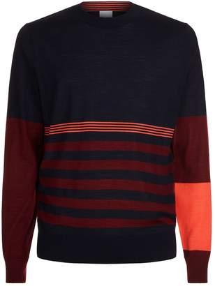 Paul Smith Stripe Colour Block Sweater