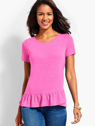 Talbots Inverness Tee With Ruffle