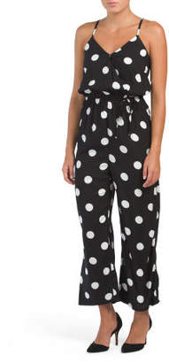Juniors Wrap Dot Jumpsuit