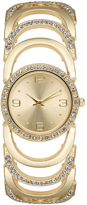 Charter Club Women's Gold-Tone Crystal Accent Bracelet Watch 34mm