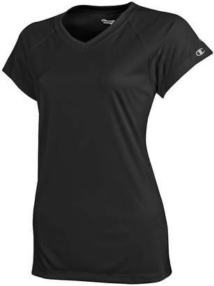 Champion Women's Essential Double Dry V-Neck T-Shirt__