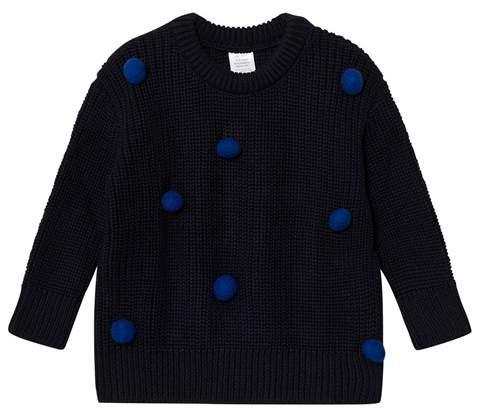 Tinycottons Pom Poms Sweater Oversized Dark Navy / Blue