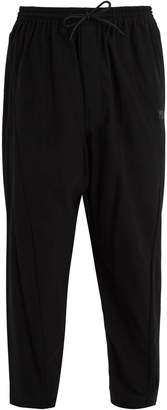 Y-3 Mid-rise cotton-twill trousers