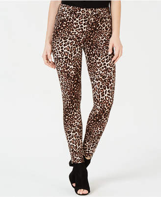 GUESS Skinny Animal-Print Jeans