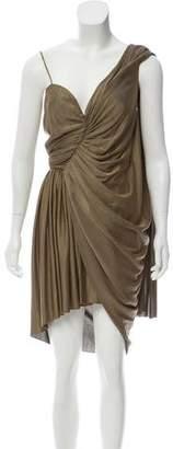 Alexander Wang Metallic One-Shoulder Dress