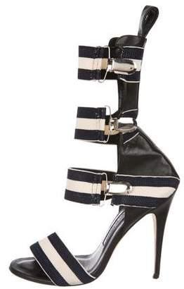 Manolo Blahnik Gladiator Elastic Strap Sandals