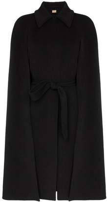 Burberry Double-faced cashmere belted cape