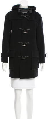 Burberry London Wool Hooded Coat $425 thestylecure.com