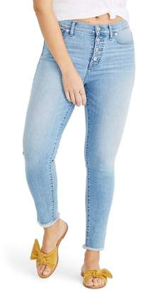 Madewell Button Front High Waist Crop Skinny Jeans
