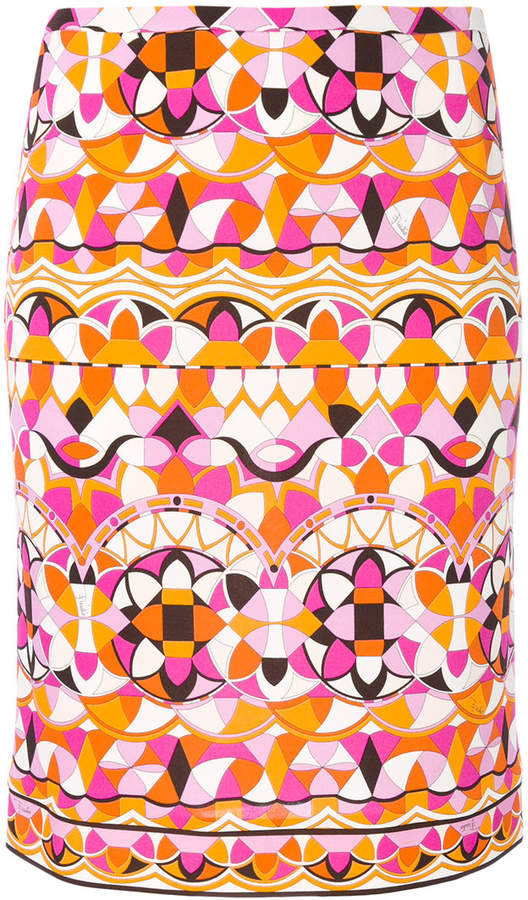 Emilio Pucci printed pencil skirt