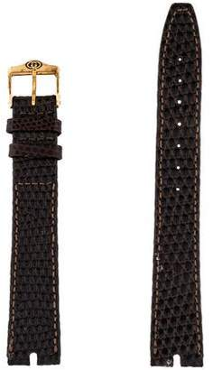 Gucci 16mm Vintage Lizard Watch Strap