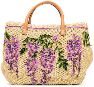 Ermanno Scervino floral embroidered tote bag