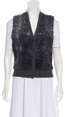 Prada Wool Shearling-Paneled Vest