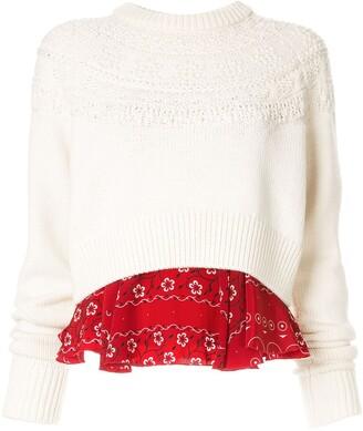 Kolor patterned chest jumper