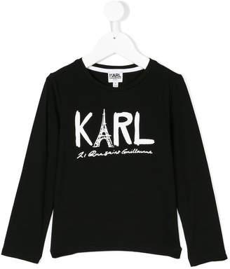 Karl Lagerfeld branded long-sleeved top