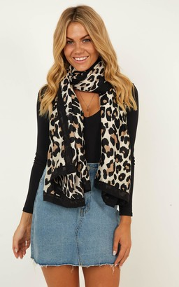Showpo Always Here Scarf In Leopard Print Scarves & Gloves