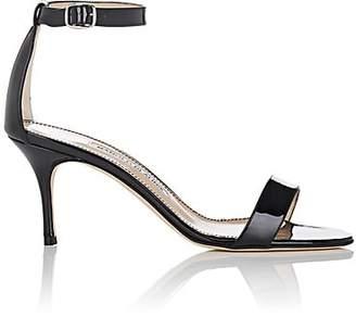 Manolo Blahnik Women's Chaos Patent Leather Sandals - Black Patent