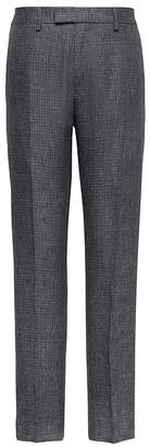 Banana Republic Heritage Athletic Tapered Irish Check Linen Suit Pant