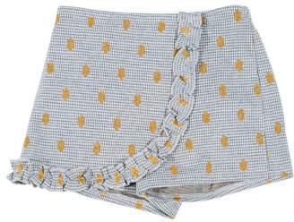 Hannah Banana Houndstooth & Polka-Dot Wrap Skort, Size 4-6X