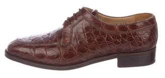 Gravati Embossed Leather Oxfords