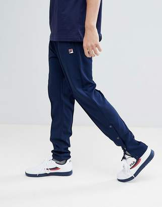 Fila Vintage Track Joggers With Poppers In Navy