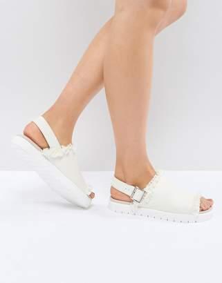 Monki Slip On Ankle Strap Sandal