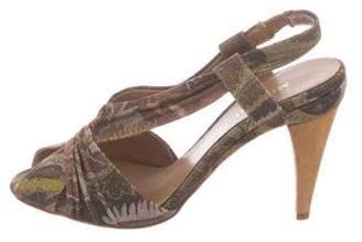Missoni Metallic Printed Sandals