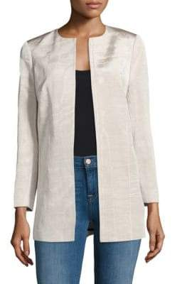 Lafayette 148 New York Pria Open Front Jacket