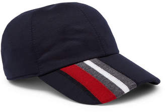 Ermenegildo Zegna Striped Techmerino Wool Baseball Cap