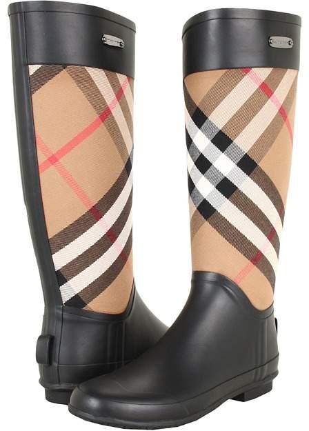 Burberry - Check Panel Rainboots Women's Rain Boots