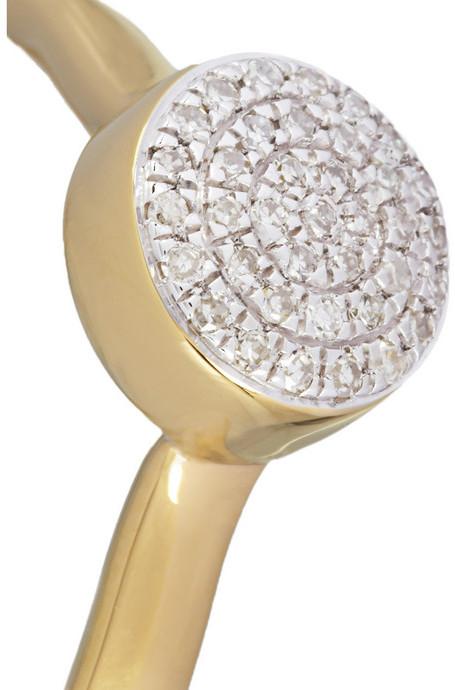 Monica Vinader Gold-plated diamond ring