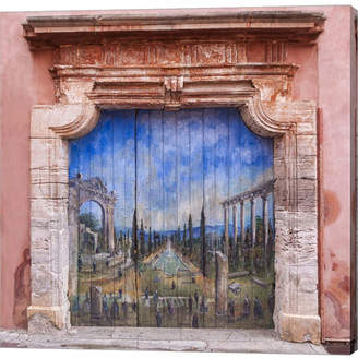 Metaverse Old Painted Door by Michael Blanchette Photography Canvas Art