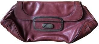 Prada Burgundy Leather Clutch Bag