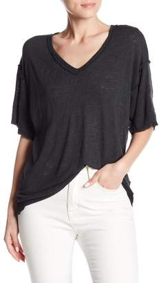 Bobeau Raw Edge Seam Tee