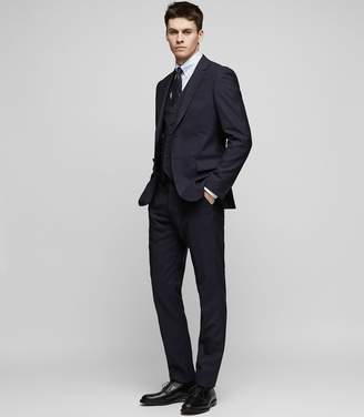 Reiss BRAVO Modern-fit waistcoat Navy