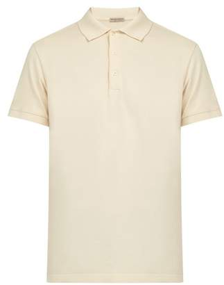 Bottega Veneta Intrecciato Cotton Polo Shirt - Mens - Cream