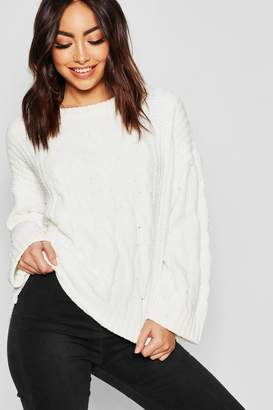 boohoo Chenille Cable Jumper