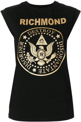 John Richmond logo patch tank top