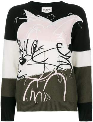Iceberg cat colour blocked jumper