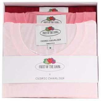 Cédric Charlier Three Pack Of Double-pockets Cotton-jersey T-shirts Fruit Of The Loom X
