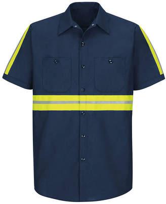 Red Kap Short-Sleeve Visibility Shirt - Big & Tall
