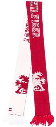 Tommy Hilfiger logo intarsia scarf