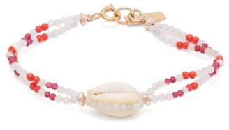 Isabel Marant Bead And Shell Bracelet - Womens - Pink