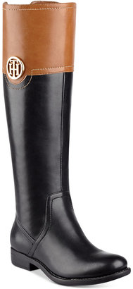 Tommy Hilfiger Silvana Wide-Calf Riding Boots $129 thestylecure.com