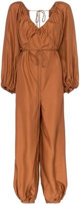 Three Graces Nora silk waist tie jumpsuit