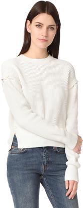 Helmut Lang Detachable Sleeve Pullover $355 thestylecure.com
